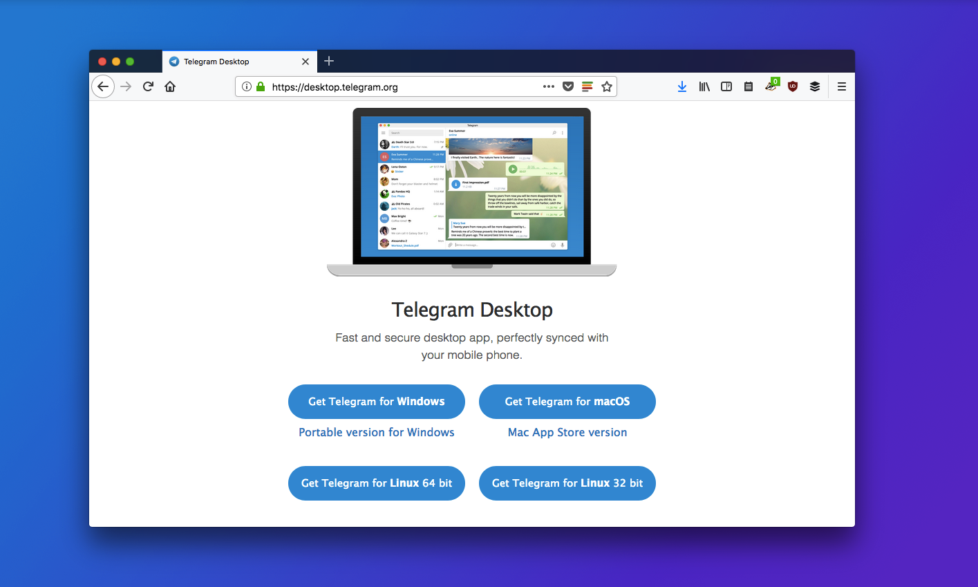 Download Telegram for desktop Mac app store, Linux, Coding