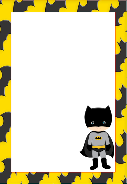 Free Printable Batman Invitations Cards Or Labels Birthday Cards