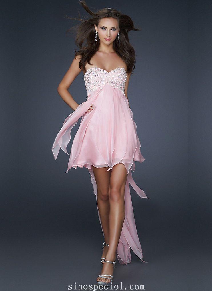 Beautiful A-line Sweetheart Neckline Mini Chiffon Prom Dress