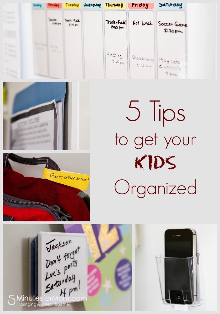 5 Organizing Tips for Kids