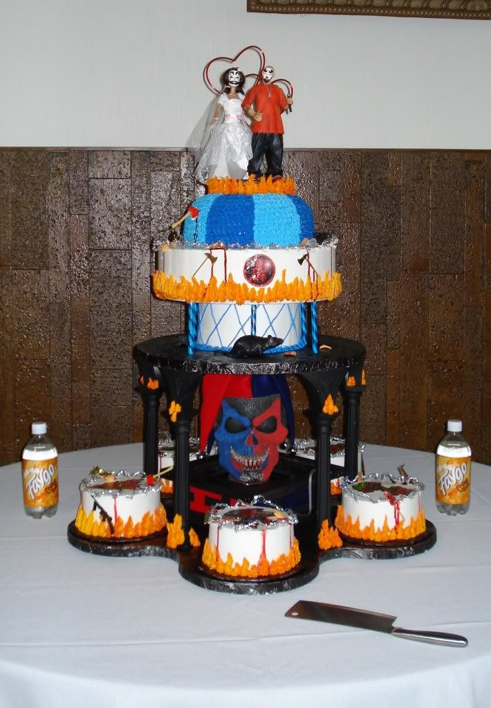 JuggaloJuggalette Wedding Cake Wedding Stuffs Pinterest