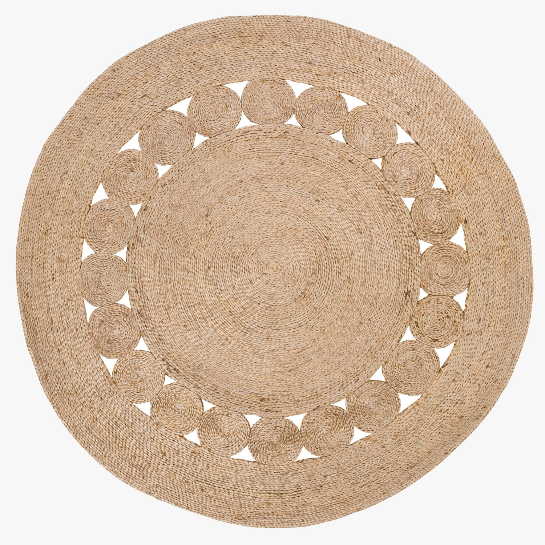 Circle Rug Texture Area Rug Ideas