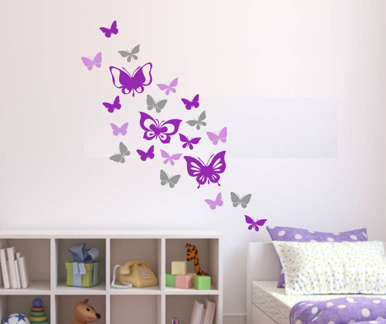 Peel And Stick Butterfly Wall Decals In 2020 Butterfly Wall Decals Wall Decals Butterfly Wall
