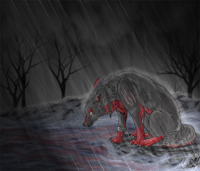 Sad Wolf Drawings Anime Personality sad very | Drawing ...