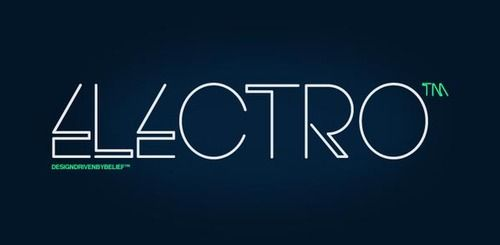 Electro Font An experimental typeface by HypeForType