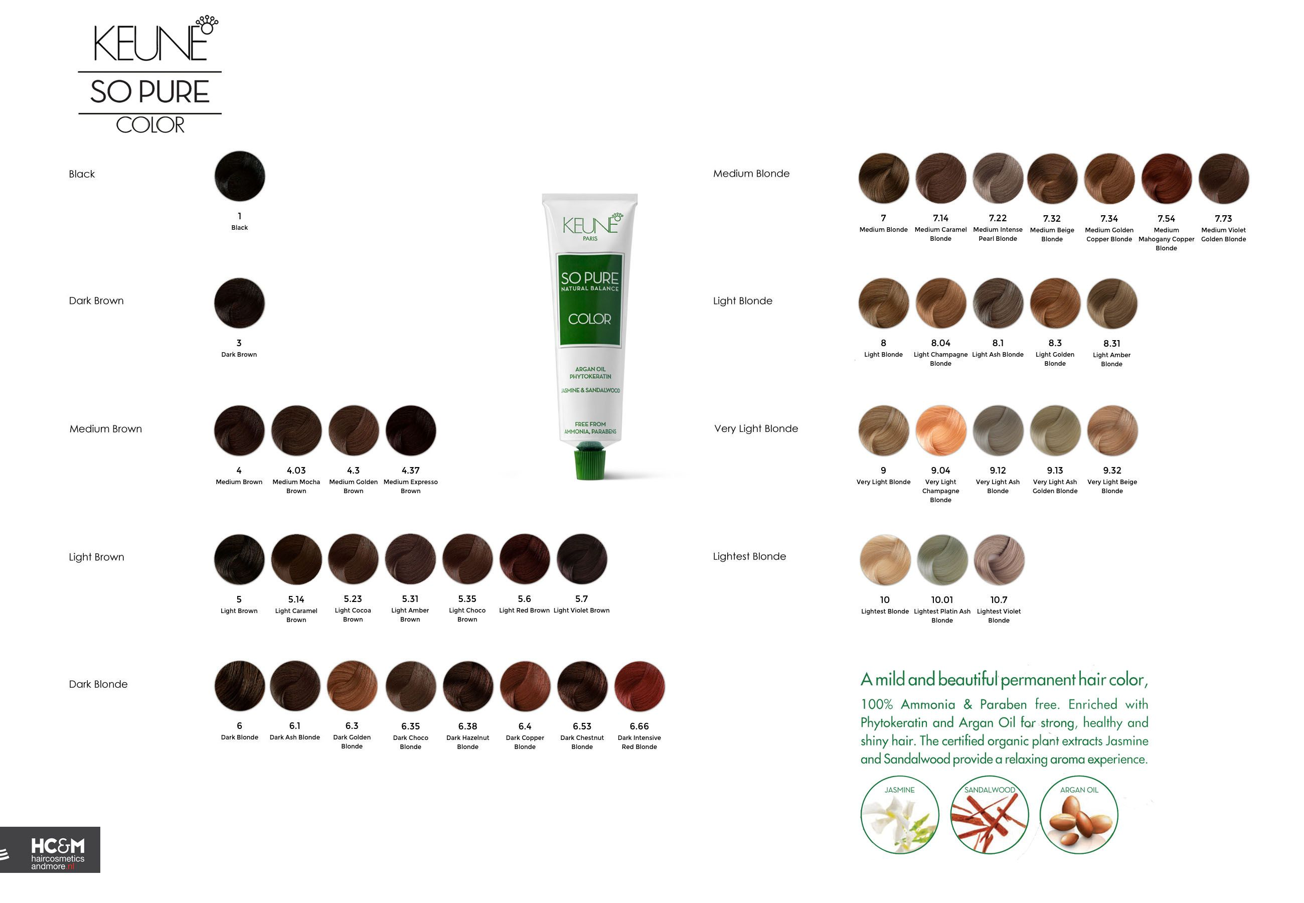 Keune So Pure Color Shade Palette 2015 Hair Color Chart Pure Products Pure Color
