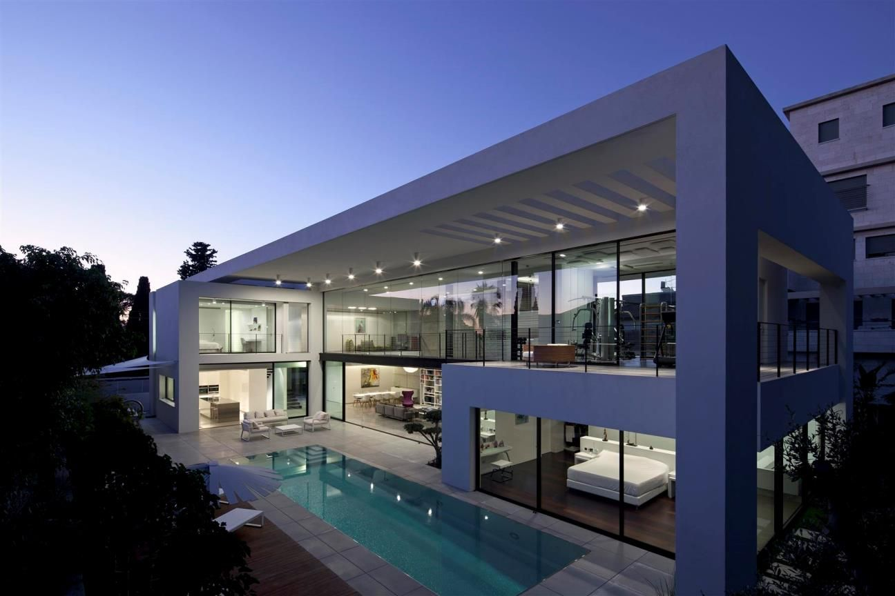 The Haifa Modern Home In Israel With 500 Square Meters Of House Area On Plot Of 1 000 Square Meters And Designed In 2020 Mansion Interior Design Architecture Mansions
