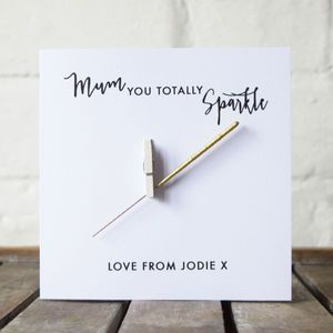 Personalised Sparkler Mothers Day Card - view all mother's day gifts