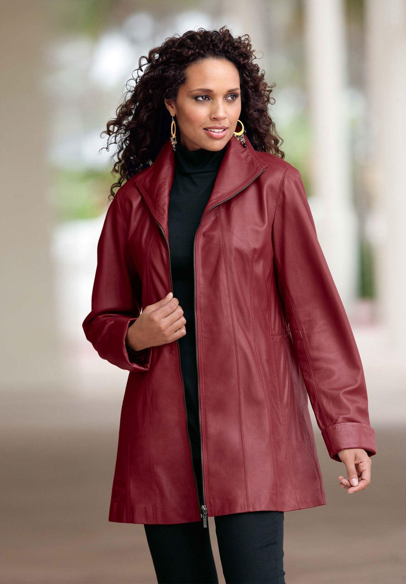 Leather Aline Jacket Plus Size Leather Roamans My