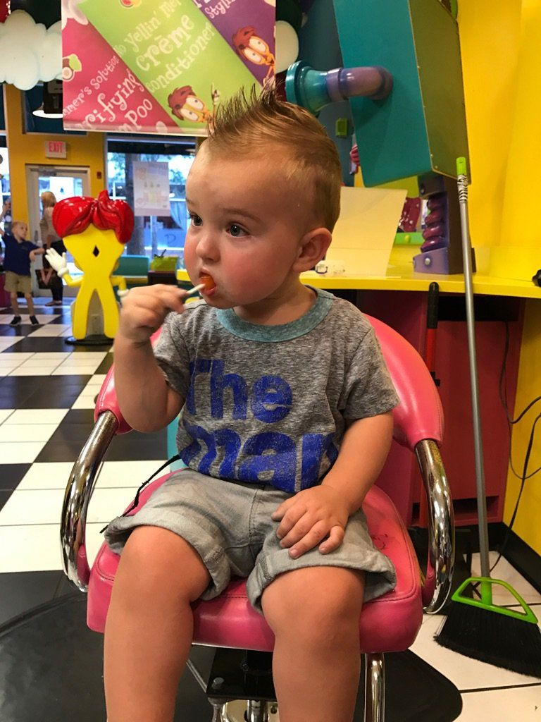 Mom Cried Dada Relieved Brexton Scores The Lollipop First Haircut