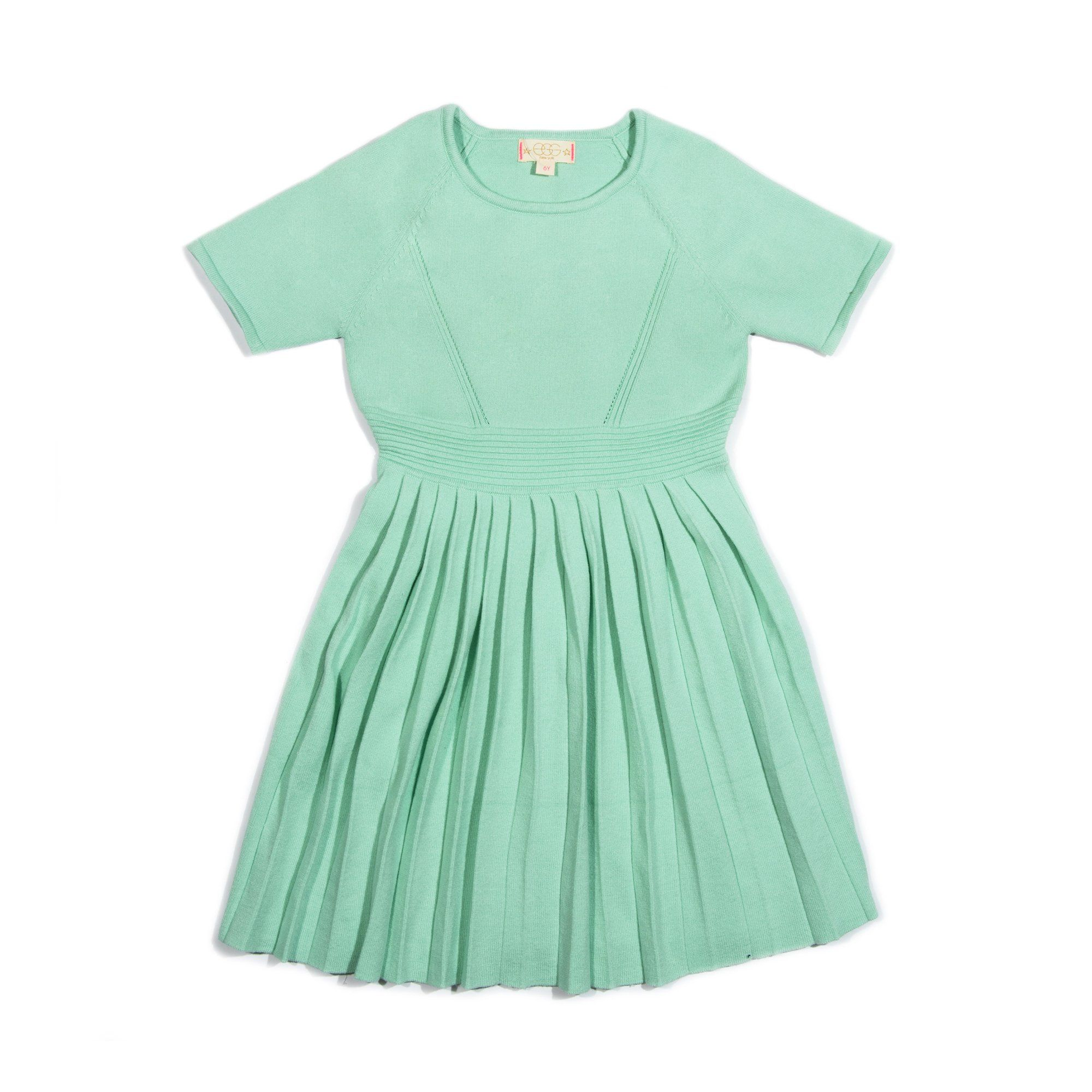 Zoe Sweater Dress - Aqua / 10Y