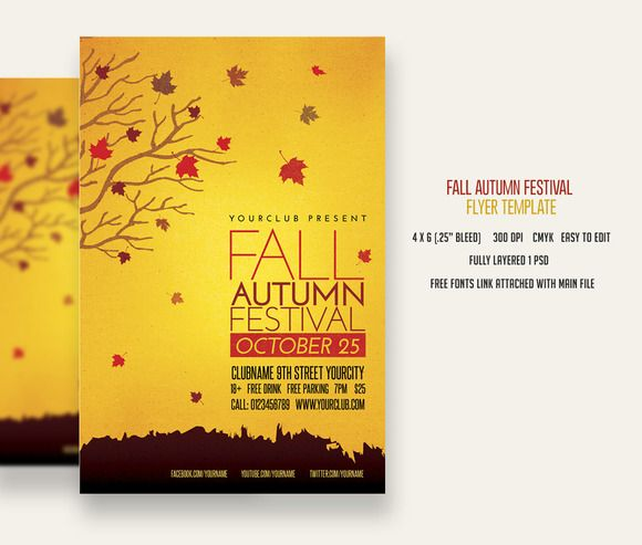 Check out Fall Autumn Festival Flyer by DesignWorkz on Creative - microsoft templates for flyers