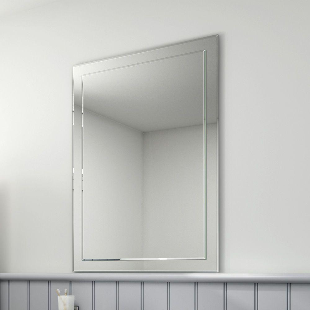 500 x 700 Modern Bevelled Edge Silver Bathroom Wall Mirror   Attic ...