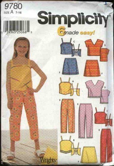 Simplicity Sewing Pattern 9780 Girls Size 7-16 Easy Summer ...