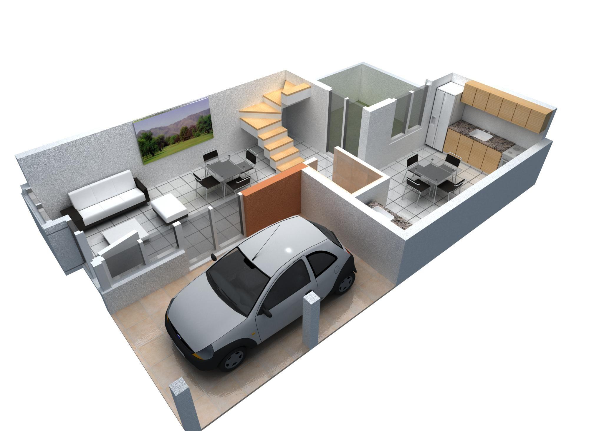 Render planta baja buscar con google kawaii casas for Diseno de interiores de casas pequenas fotos