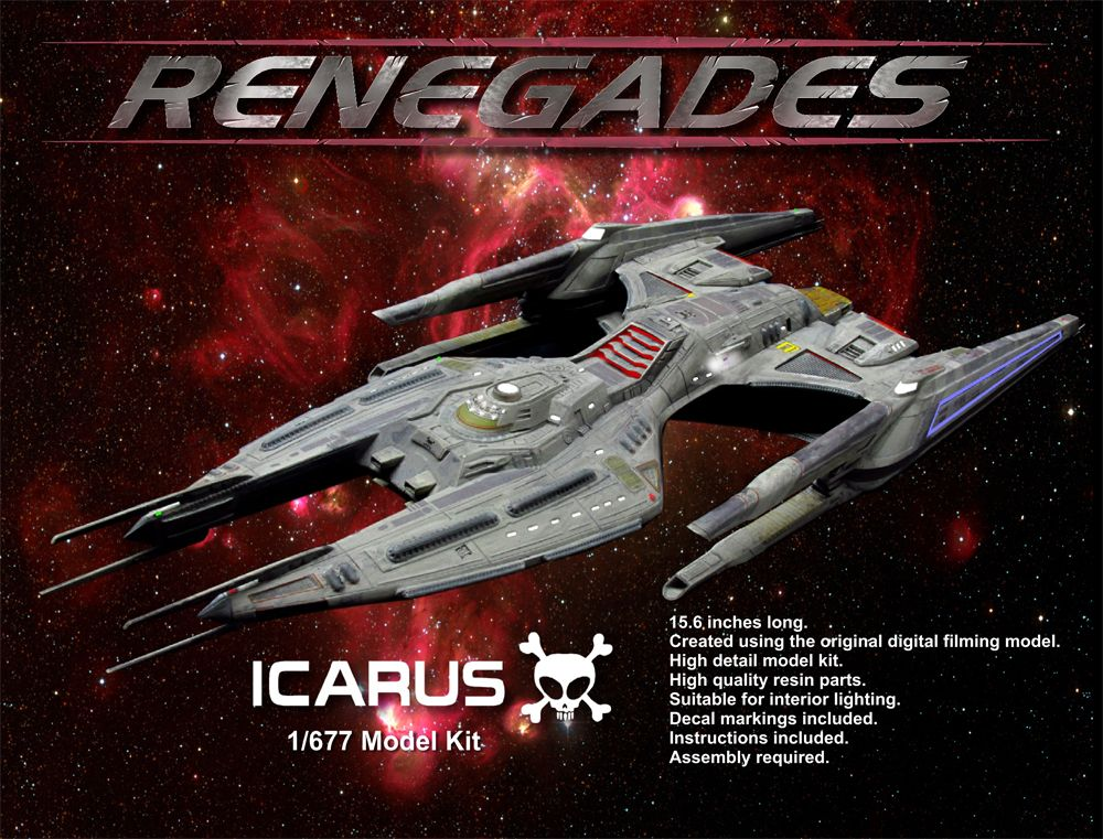 Icarus Model Kit Now Available! – Renegades | Sci-Fi | Star