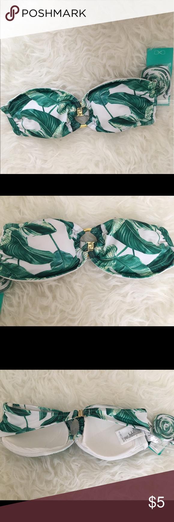NWT | Tropical Bandeau Top New with tags! H&M Swim Bikinis
