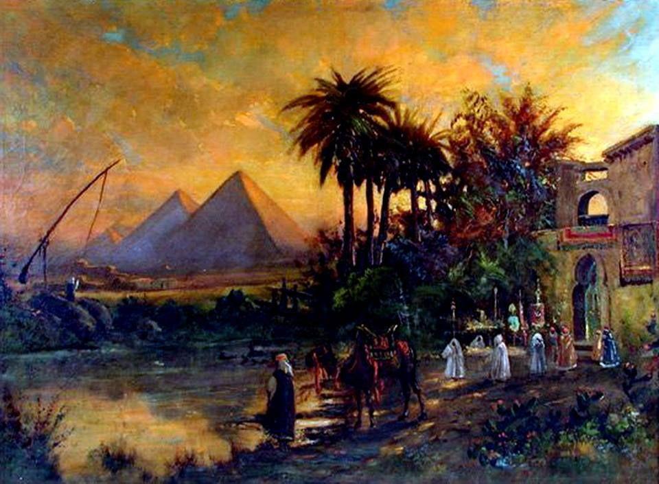 раз картинки пейзажа египта окружены