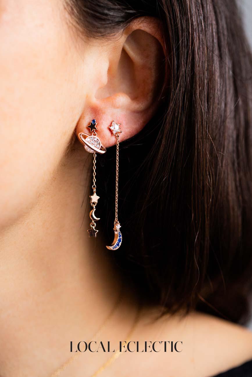 6cfe211ad5660 Astro Galaxy Earrings in 2019 | Me want | Earrings, Jewelry, Fashion