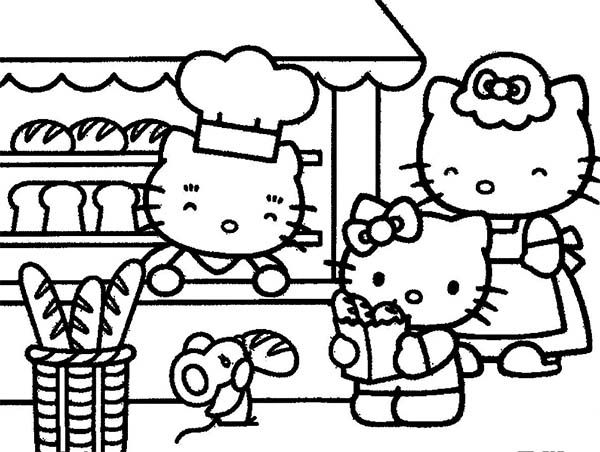 Hello Kitty Is In Her Parents Bakery Coloring Pages Hello Kitty Is In Her Parents Bakery Color Hello Kitty Colouring Pages Hello Kitty Coloring Kitty Coloring
