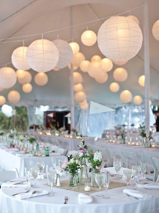 burlap centerpiece runner | Wedding tent decorations ...