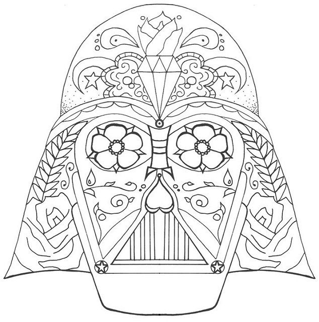 Darth Vader Coloring Pages Sugar Skull Skull Coloring Pages Coloring Pages Star Wars Drawings