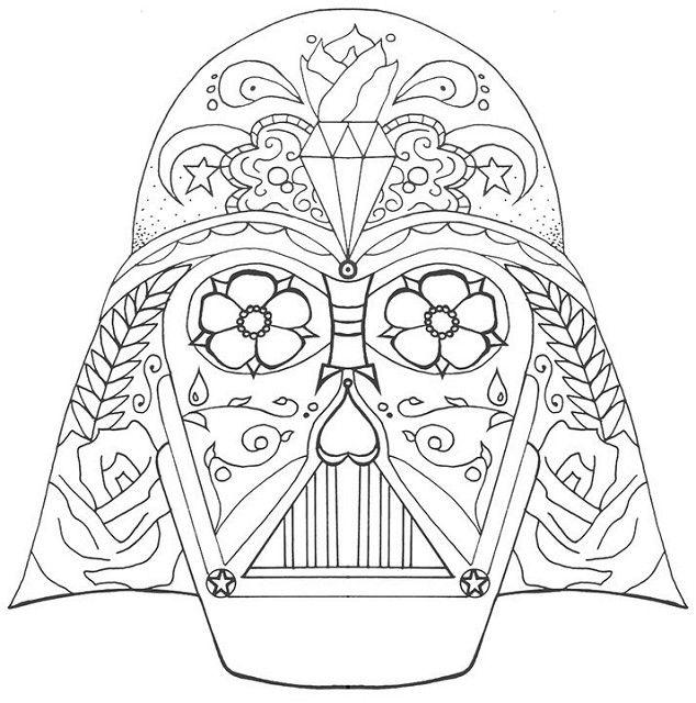 Darth Vader Coloring Pages Sugar Skull Skull Coloring Pages Coloring Pages Disney Coloring Pages