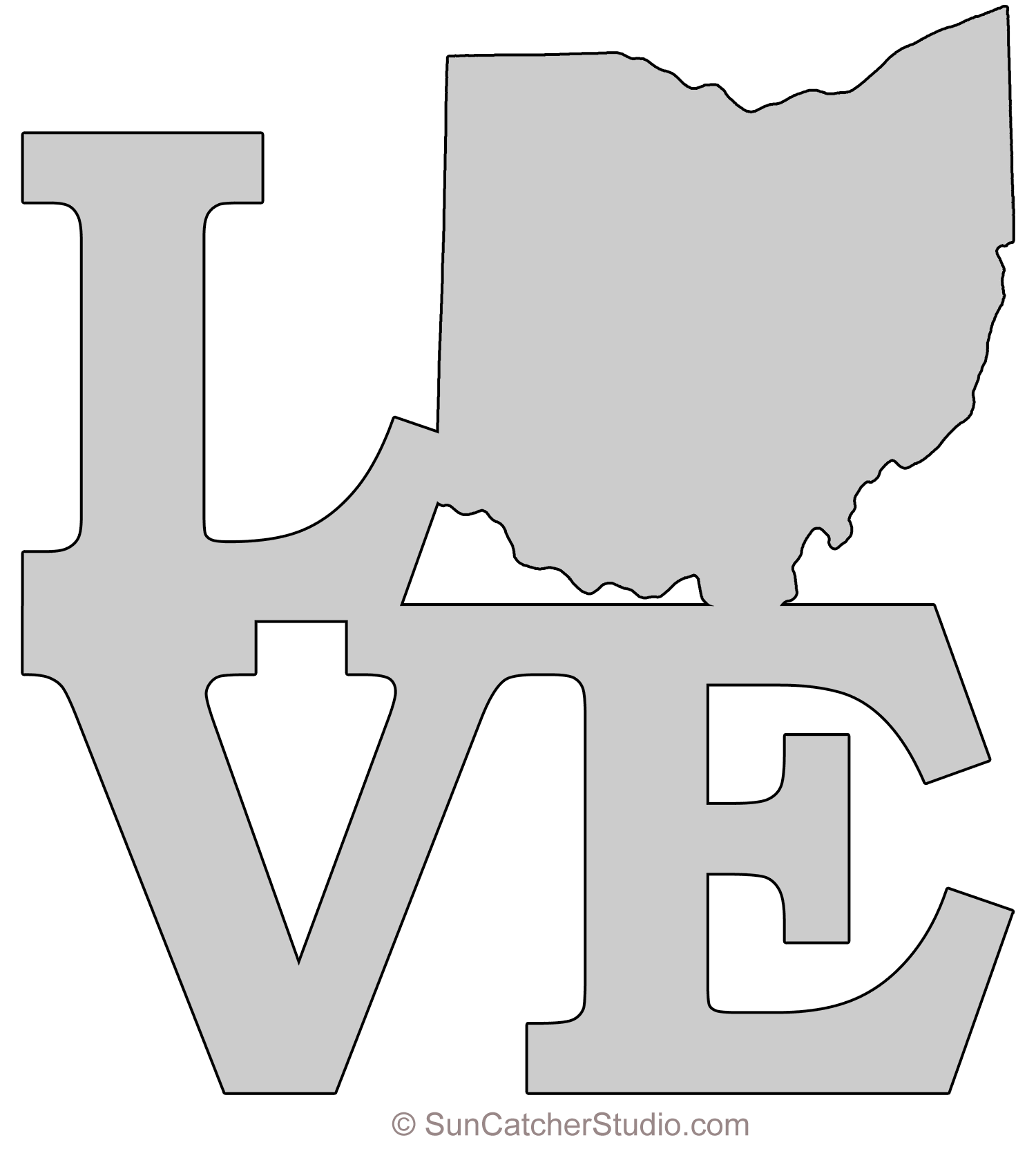 photograph relating to Free Printable Ohio Will Forms named Ohio - Map Define, Printable Place, Condition, Stencil, Behavior