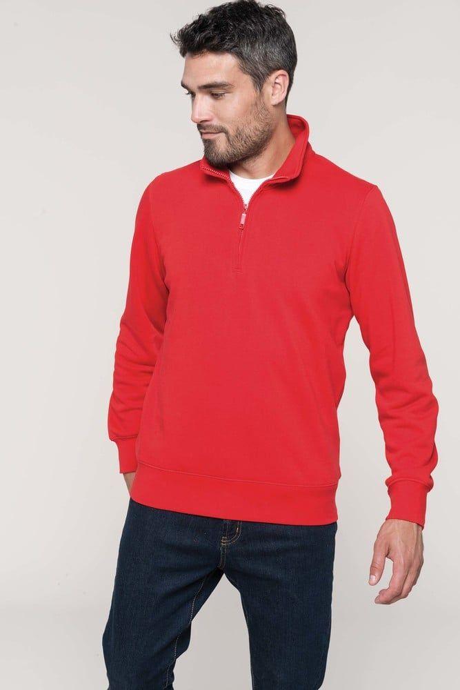 Pack 16 Sweatshirt mit Reiverschlusskragen Oxford Grey – Kariban K487 – Größe: XS