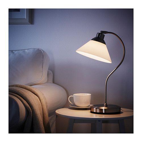 KROBY Bordslampa, förnicklad, glas - förnicklad/glas