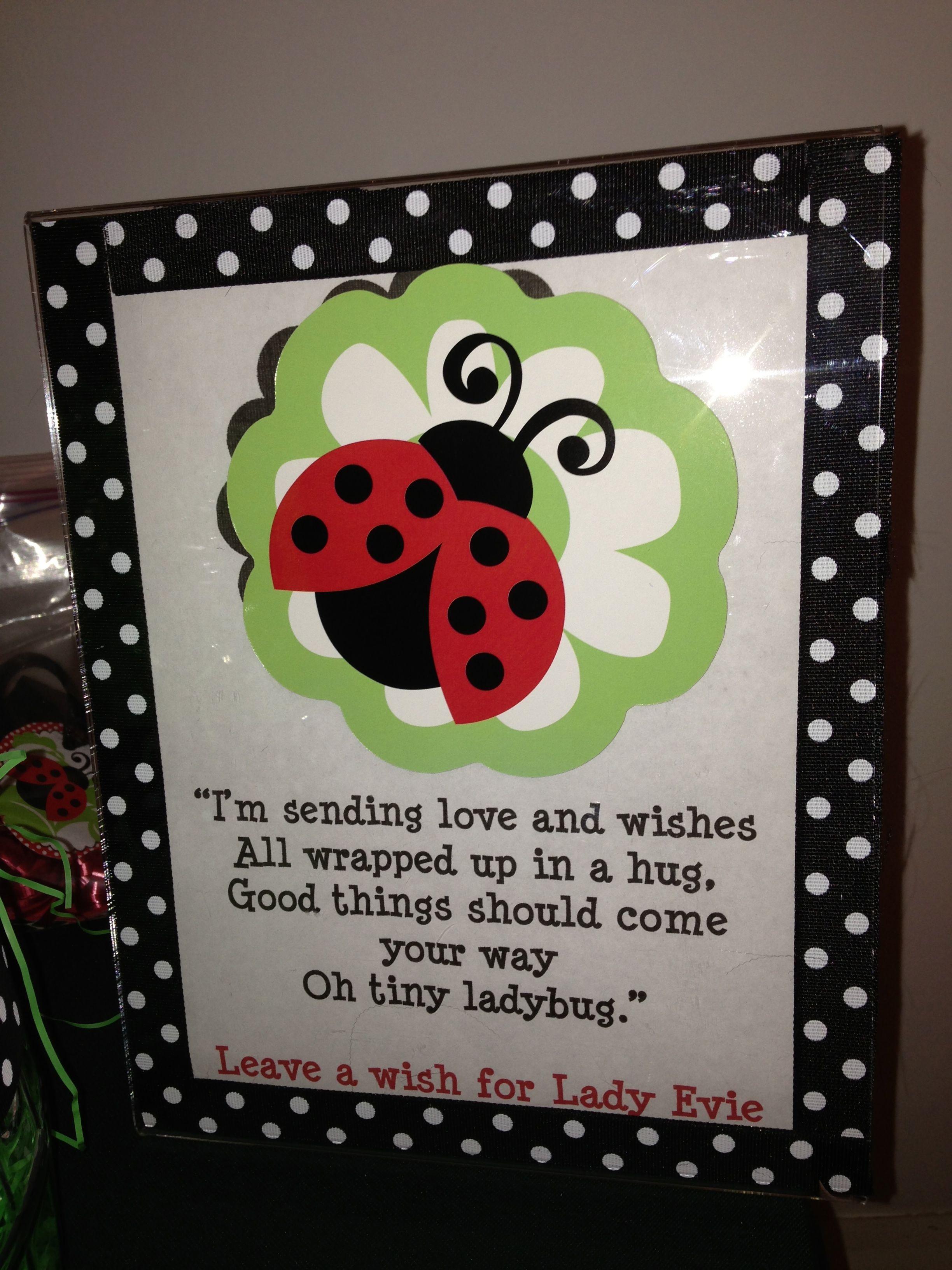 Ladybug Wish Tree Poem Evie S Ladybug 1st Birthday