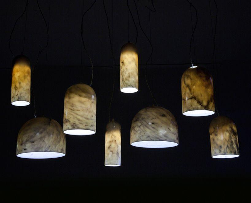 Benjamin Hubert Quarry Lamps For De La Espada Pendant Lamp Stone Lighting Lamp