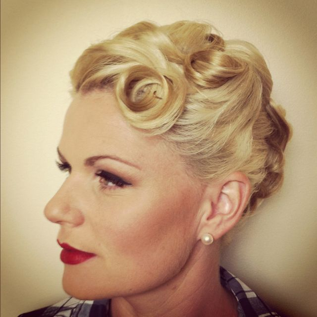 1950 S Style Wedding Hair: 1950's Style Updo. The Art Of Makeup And Hair.