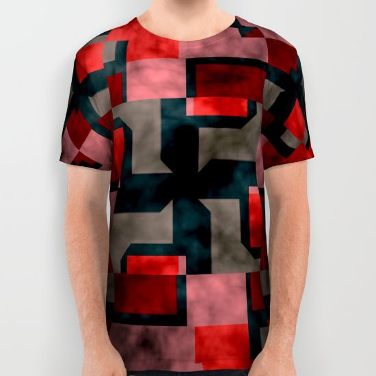 Textured shapes All Over Print Shirt by Laly_sb #T-shirt #tee #fashion #clothing #clothes #abstract #all over print #unisex