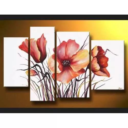 Resultado de imagen para cuadros para sala flores for Cuadros al oleo para decorar salones