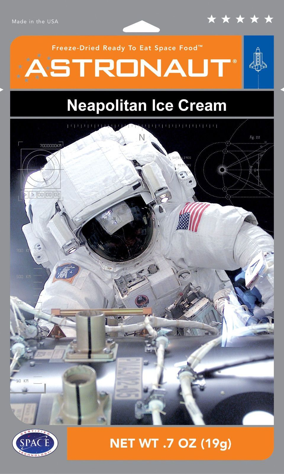 Details about 24 Pks Astronaut Ice Cream Neapolitan Ice ...
