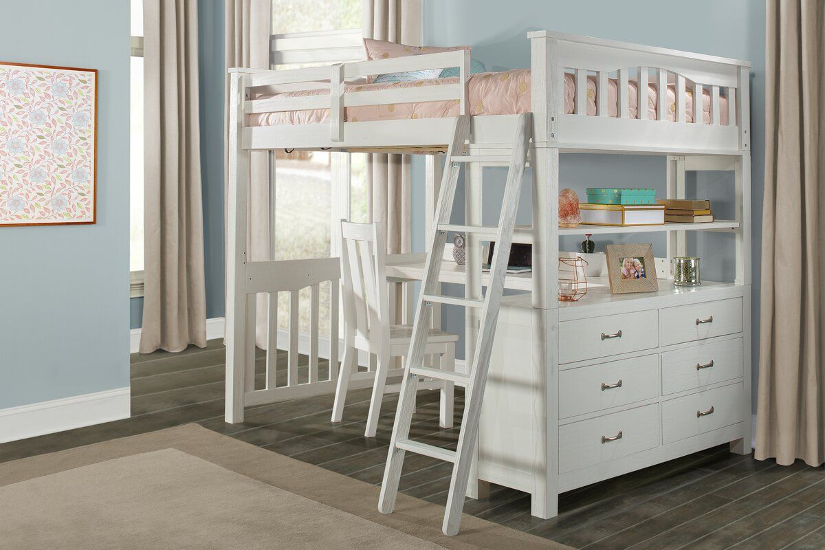 Bedlington Loft Bed with Drawers Queen loft beds, Build