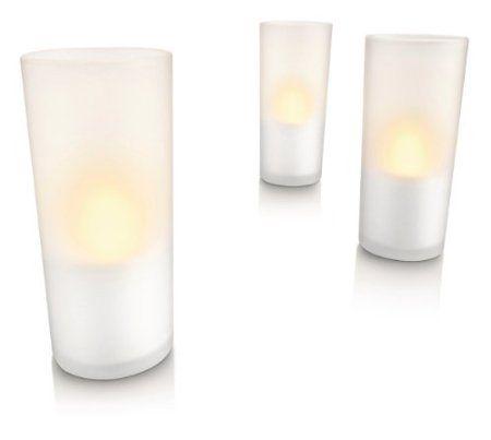 White    Philips Imageo LED Rechargeable Candle Lights, Amazon.co.uk: Lighting