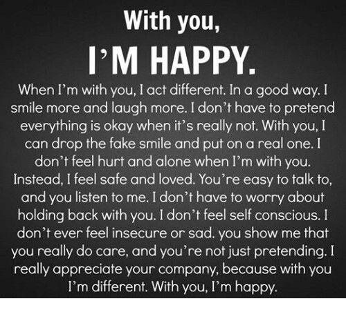 I Am Happy To Be With You Quotes Archidev