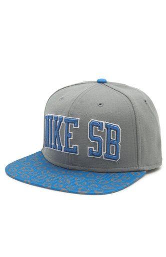 259b690150 Nike SB Leopard Snapback Hat Grey blue  30.00