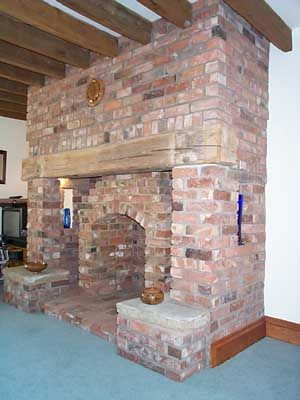 Another recessed square firebox with outer brick arch, which adds ...