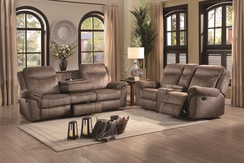 2 Pc Homelegance Aram Brown Reclining Sofa Loveseat Set 8206nf Reclining Sofa Sofa And Loveseat Set Sofa Set