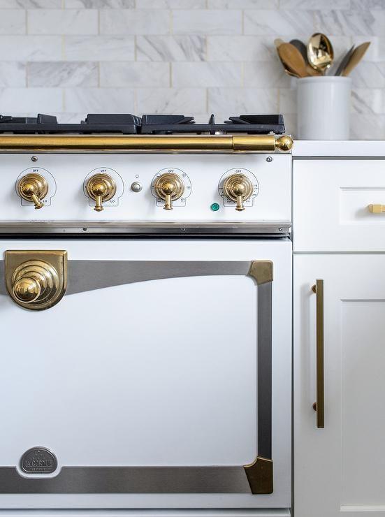 Best White And Gold French La Cornue Cornufre Range Stove 400 x 300