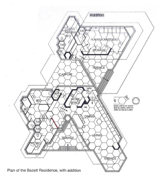 Meta Tech School Frank Lloyd Wright Architecture Hexagonal Architecture Frank Lloyd Wright
