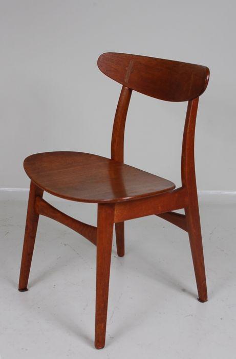1950's beautiful Scandinavian teak dinner chair