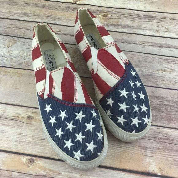 cac67dc2432 I just discovered this while shopping on Poshmark: Steve Madden flag ...