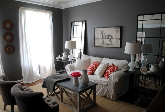 couleur peinture salon conseils et 90 photos pour vous inspirer salons. Black Bedroom Furniture Sets. Home Design Ideas