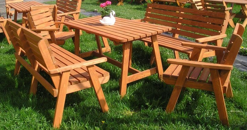 Meble Ogrodowe Drewniane Magnolia Stol Lawki 180cm 5461946950 Oficjalne Archiwum Allegro Picnic Table Furniture Outdoor Table
