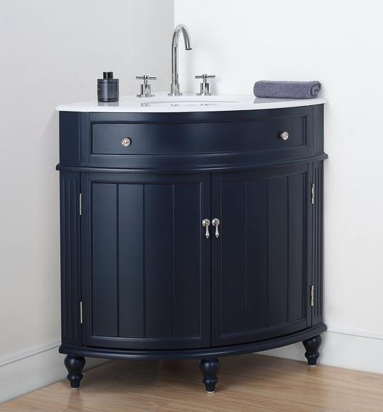 24 Benton Collection Thomasville Navy Blue Corner Bathroom Vanity Zk 47588nb Corner Bathroom Vanity Single Bathroom Vanity Bathroom Vanity Designs