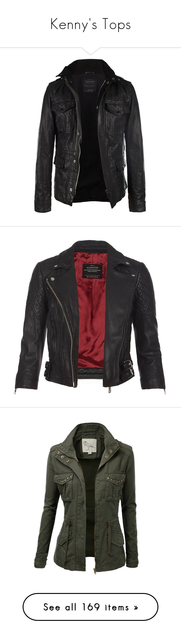 """""""Kenny's Tops"""" by ramble-on-my-wayward-cherry-pie ❤ liked on Polyvore featuring men's fashion, men's clothing, men's outerwear, men's jackets, jackets, men, outerwear, tops, mens leather jacket and mens slim fit leather jacket"""